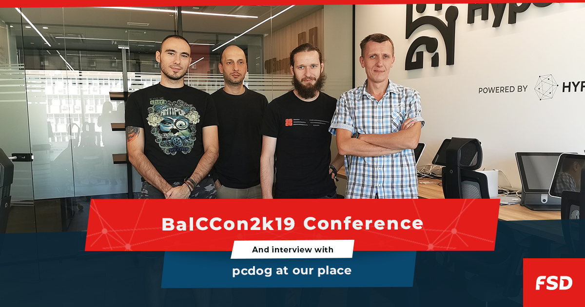 BalCCon2k19 and interview with pcdog at our place